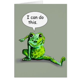 ENCOURAGING LIZARD GREETING CARD