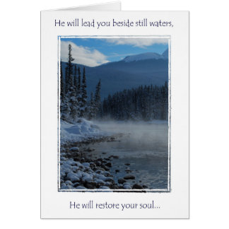 encouragment greeting card, Psalms 23 Card
