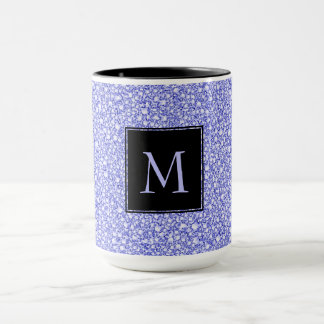 Encrusted Blue Diamonds Look Glitter Patter Mug