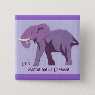 End Alzheimers 15 Cm Square Badge