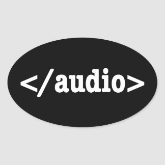 End Audio HTML5 Code Oval Sticker