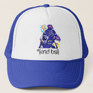 End BSL Pit Bull Trucker Hat
