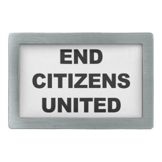 End Citizens United Belt Buckle