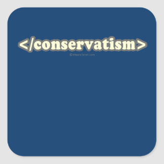 End conservatism 2 png square stickers
