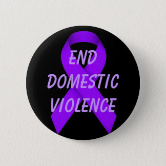 End domestic violence 6 cm round badge
