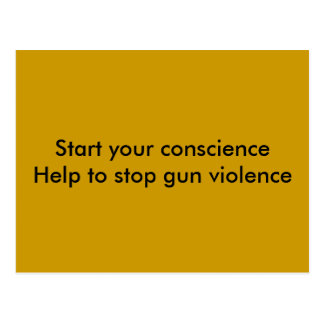 end gun violence postcard