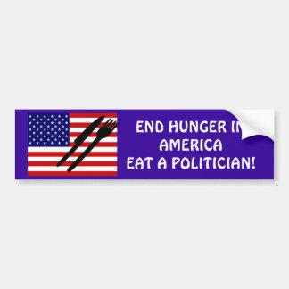 END HUNGER IN AMERICA BUMPER STICKER