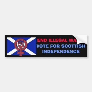 End Illegal Wars Scottish Independence Sticker Bumper Sticker