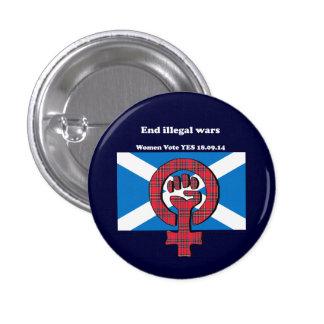 End Illegal Wars Scottish Women Independence Badge