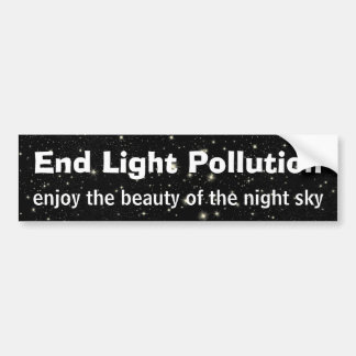 End Light Pollution Bumper Sticker