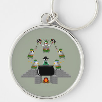 End of Capitalism - Penguin Silver-Colored Round Key Ring