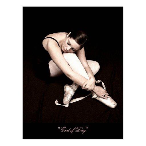 End of Day Sleeping Ballerina Postcard