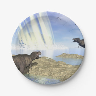 End of dinosaurs 7 inch paper plate