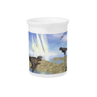 End of dinosaurs beverage pitcher