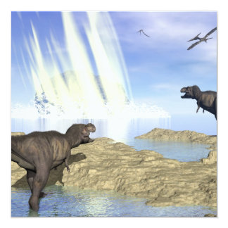 End of dinosaurs card
