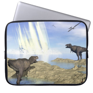 End of dinosaurs laptop sleeve