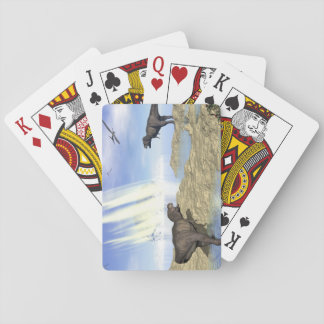 End of dinosaurs playing cards