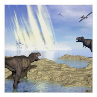 End of dinosaurs poster