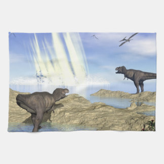 End of dinosaurs tea towel