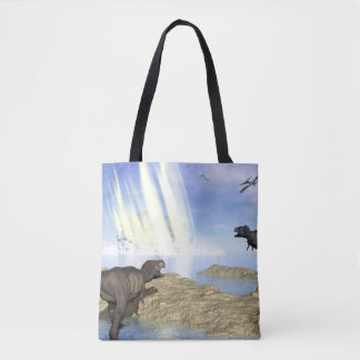End of dinosaurs tote bag