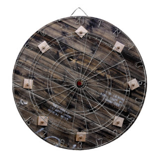 End of Industrial Wire Spool Dartboard