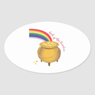 End Of Rainbow Oval Stickers