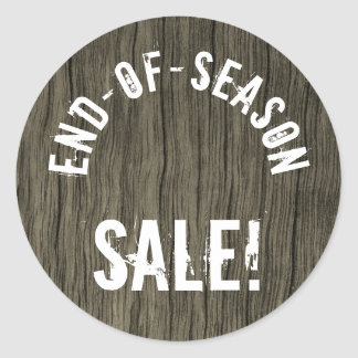 """END-OF-SEASON SALE!"" Round Sticker"