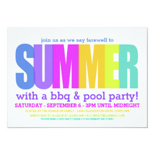 end of summer party invitations stationery zazzle au