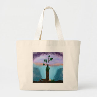 End of the day large tote bag