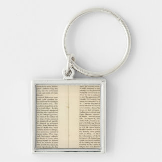 End of The General Peace 1828 AD 2 Keychains