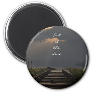 End Of The Line 6 Cm Round Magnet