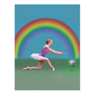 End of the Rainbow Ballerina Postcard