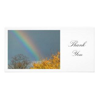 End of the Rainbow - Thank You Custom Photo Card