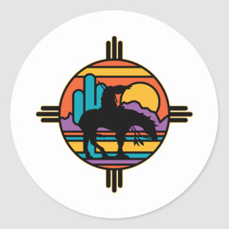 End of the Trail Native American Indian Classic Round Sticker
