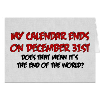 End Of The World Card
