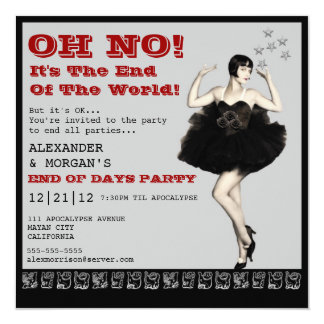 End Of The World Party Invitation