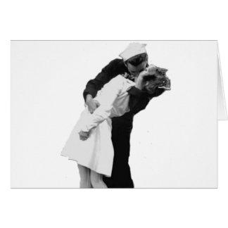 End of War Kiss Greeting Card