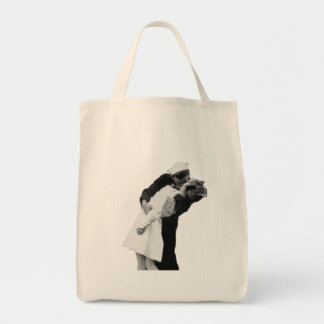End of War Kiss Grocery Tote Bag