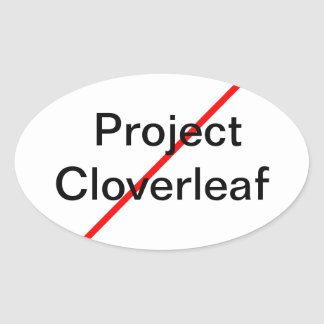 End Project Cloverleaf Oval Sticker