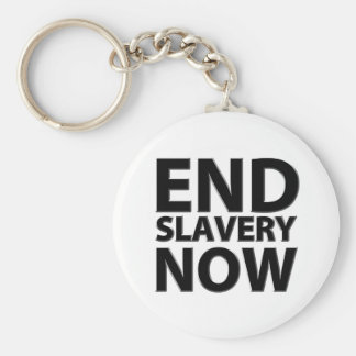 end slavery now basic round button key ring