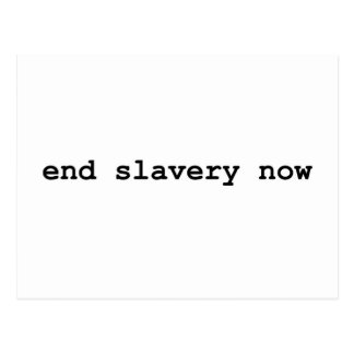end slavery now postcard