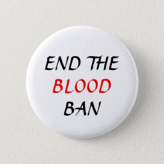 End the Blood Ban plain pin