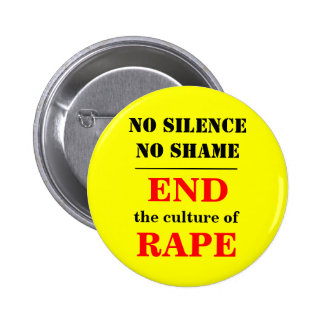 END the culture of RAPE 6 Cm Round Badge