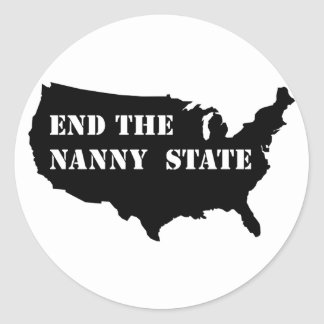 End The Nanny State Classic Round Sticker
