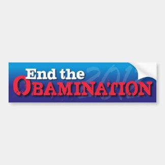 End the Obamination Car Bumper Sticker