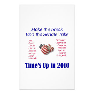 End the Take Vote Republican 2010 Stationery Paper