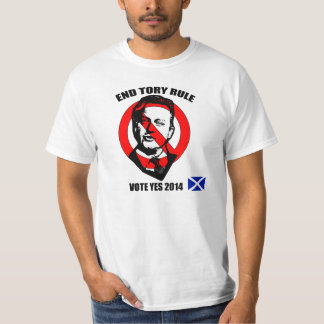 End Tory Rule Vote Yes for Scottish Independence T-Shirt
