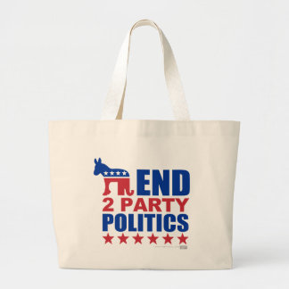 End Two Party Politics Jumbo Tote Bag