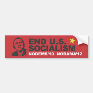 End US Socialism Bumper Sticker