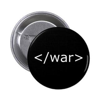 End War html - Black & White 6 Cm Round Badge